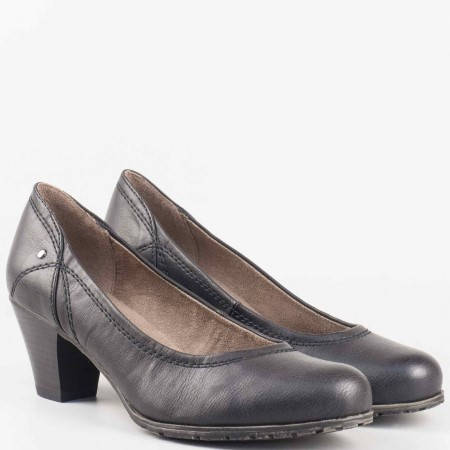 Ежедневни дамски обувки на гъвкаво ходило Jana в черен цвят 8822460ch