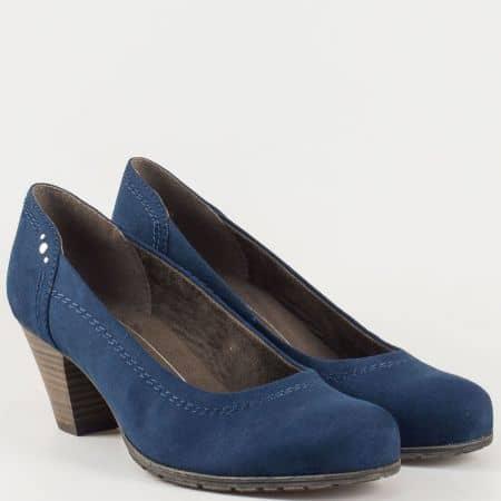 Леки и удобни дамски обувки в син цвят на среден ток- Jana 8822461vs