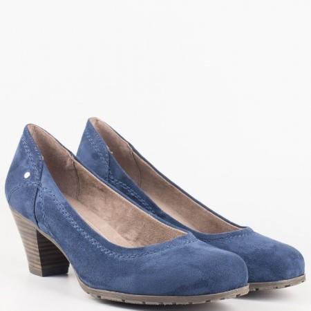 Ежедневни сини дамски обувки на среден ток Jana 8822465vs