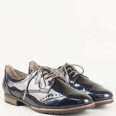 Дамски комфортни обувки с ежедневна визия с връзки на немския производител Jana в син цвят 8823260ls