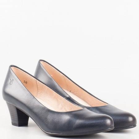 Дамска ежедневна обувка от висококачествена естествена кожа с вградена OnAir система на немския производител Caprice в син цвят 922306s