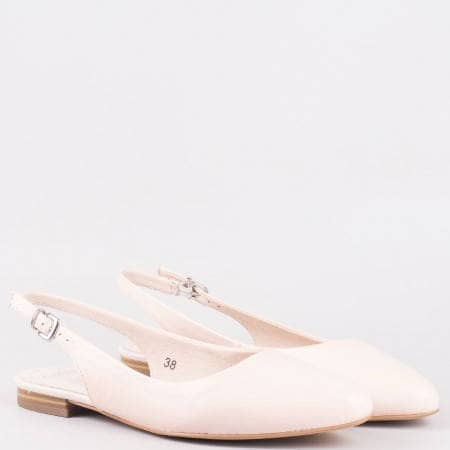 Дамски елегантни обувки с каишка и естествена кожена стелка на водещия немски производител Caprice в розов цвят 929402rz