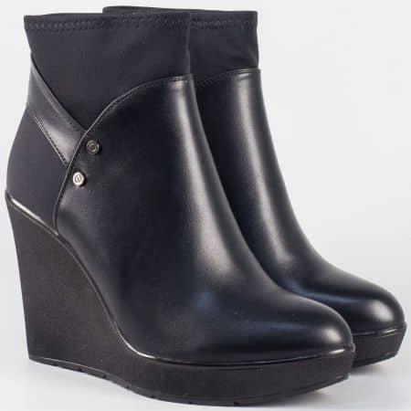 Дамски боти в черен цвят на висока платформа- Eliza  9508559ch