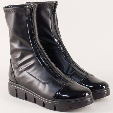 Дамски боти в черен цвят- български производител  996382chlch