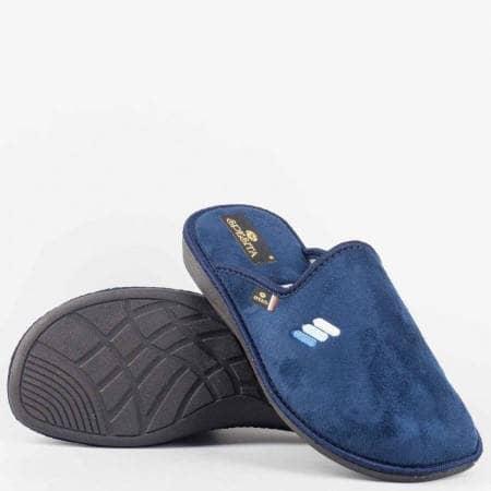 Сини мъжки пантофи на комфортно ходило Spesita eriks