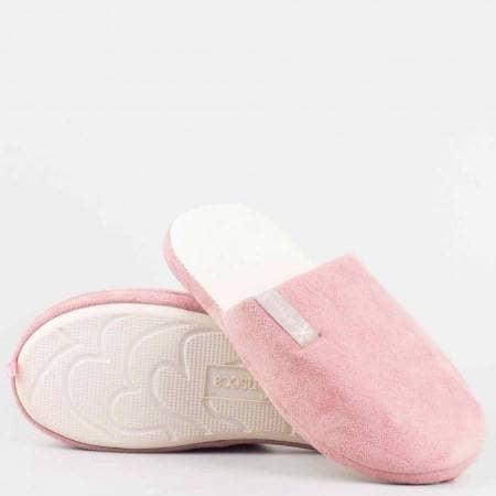 Дамски пантофи DE FONSECA на меко ходило в розово violedi65rz