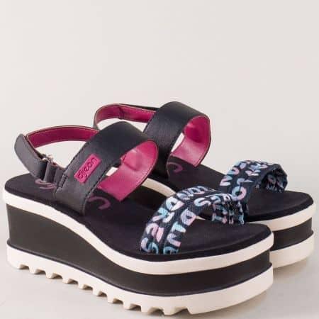 Дамски сандали на платформа в черен цвят- Azaleia  a472147ch