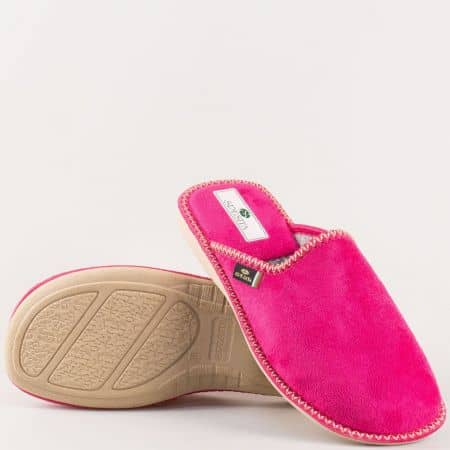 Цикламени дамски домашни чехли- Spesita bereniceck