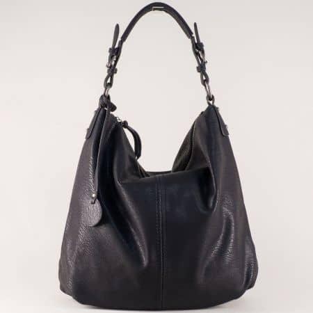 Черна дамска чанта с удобни дръжки и две прегради ch1540171ch