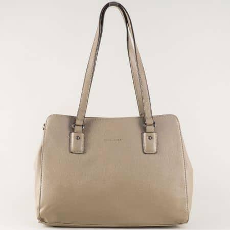 Кафява дамска чанта David Jones с две дръжки cm3256k