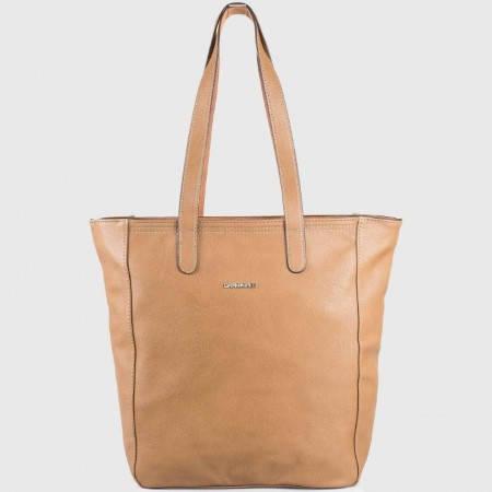 Дамска чанта с ежедневна визия на известния френски произвоидел David Jones в светло кафяв цвят ch3917-2k
