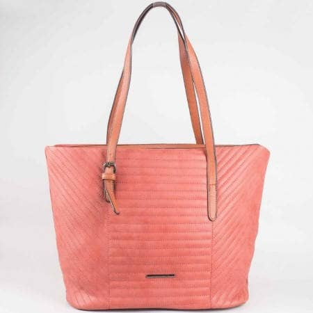 Дамска ежедневна чанта с регулиращи се дръжки на френския производител David Jones в оранжево ch3919-2o