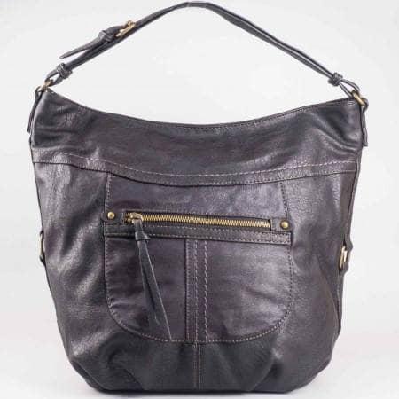 Дамска чанта с практично разпределение на френския производител David Jones в черен цвят ch3973-3ch