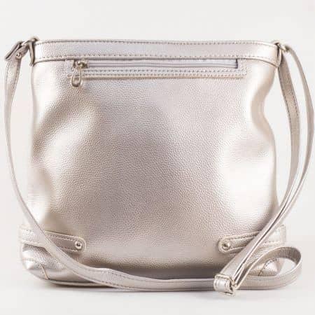 Дамска чанта за всеки ден със свежа визия на български производител в сребристо ch491sr