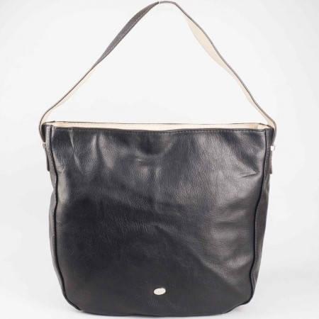 Дамска практична чанта със семпла визия на френската марка David Jones в черен цвят ch5007-1ch