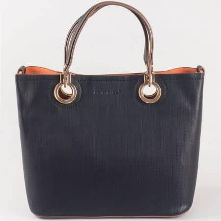 Дамска чанта за всеки ден с атрактивна визия и органайзър на френския производител David Jones в черен цвят ch5064-2ch