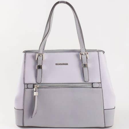Дамска ежедневна чанта с атрактивна, свежа визия и две дръжки на David Jones в сив цвят ch5068-4sv
