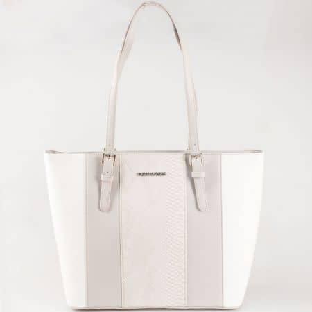 Дамска чанта за всеки ден със стилна визия на френския производител David Jones в сив цвят ch5086-1sv