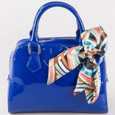 Дамска атрактивна чанта за всеки ден на френския производител David Jones в синьо ch5108-1s