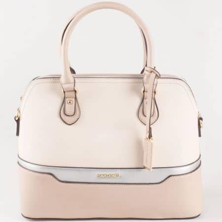 Дамска чанта за всеки ден със стилна визия на френския производител David Jones в бежово ch5110-2bj