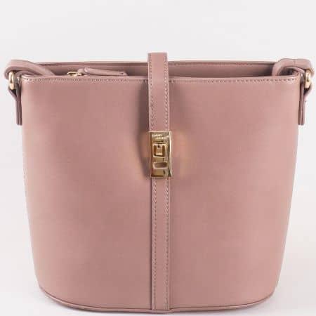 Малка бежова дамска чанта с дълга дръжка David Jones ch5219-2bj