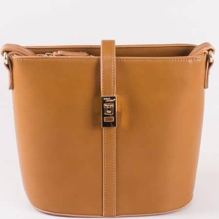 Дамска чанта Daivd Jones с дълга дръжка в кафяв цвят ch5219-2k
