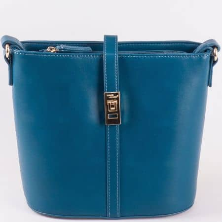 Изчистена синя дамска чанта David Jones ch5219-2s