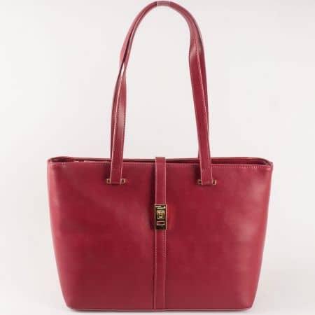Стилна и модерна дамска чанта David Jones в цвят бордо ch5219-5bd