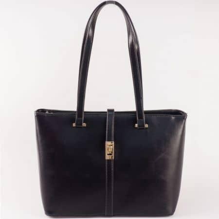 Черна дамска чанта David Jones с метален детайл ch5219-5ch