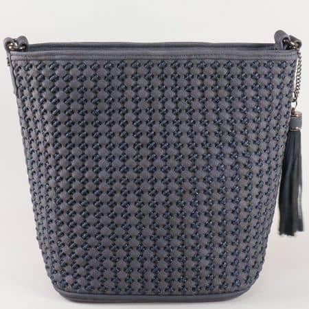Синя дамска чанта David Jones с дълга дръжка ch5223-1s