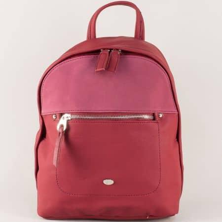 Малка дамска раница в цвят бордо- David Jones  ch5250-3bd