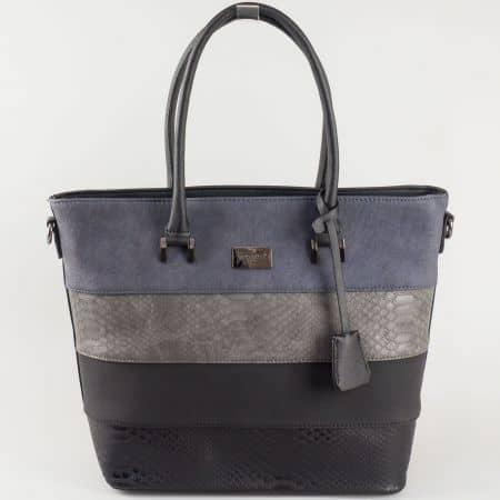Дамска чанта David Jones от еко кожа в цветова комбинация ch5256-2ch