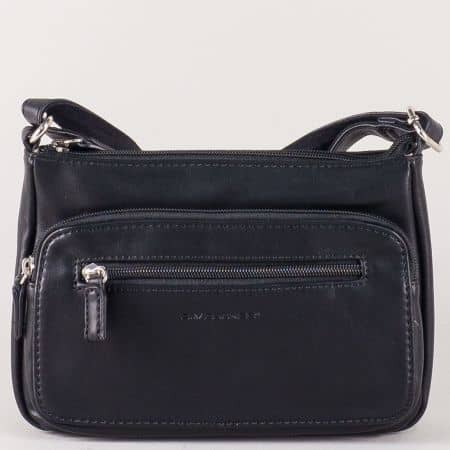 Черна дамска чанта с дълга дръжка и удобни джобчета ch5299-1ch