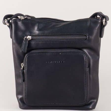 Дамска чанта с дълга дръжка- David Jones в черен цвят ch5299-2ch