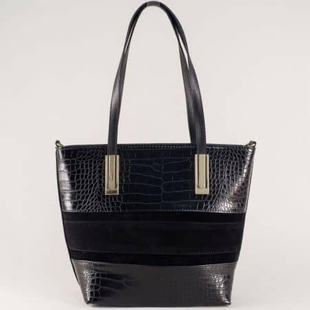 Дамска чанта в черен цвят- български производител ch667vch