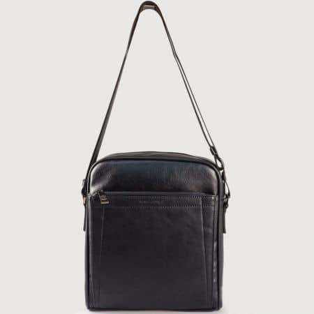 Мъжка чанта с дълга дръжка на френския производител David Jones в черен цвят ch686601ch