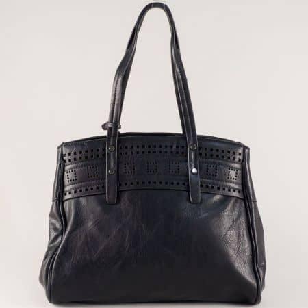 Дамска чанта на български производител в черно ch686ch