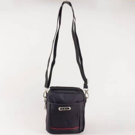Мъжка чанта за всеки ден с дълга дръжка на български производител в черен цвят ch8103ch
