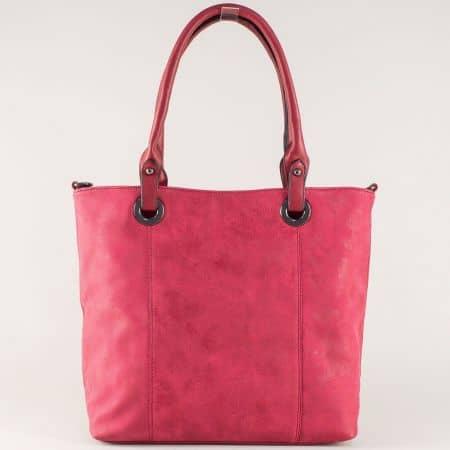 Стилна дамска чанта с изчистена визия в червено ch8596bd