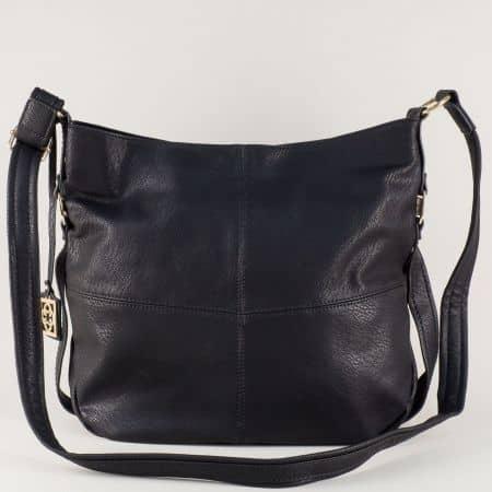 Ежедневна дамска чанта с дълга дръжка в черен цвят ch90492ch
