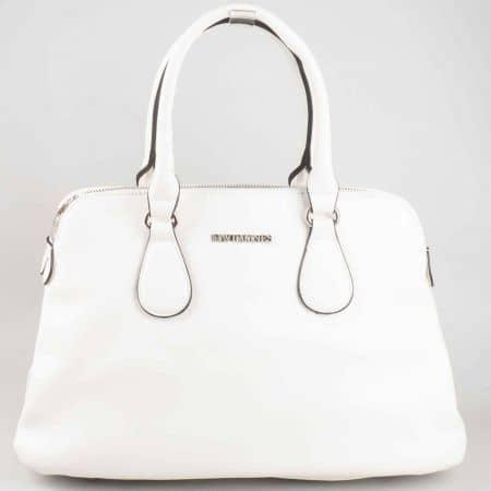 Атрактивна френска дамска чанта David Jones в бял цвят cm3001b