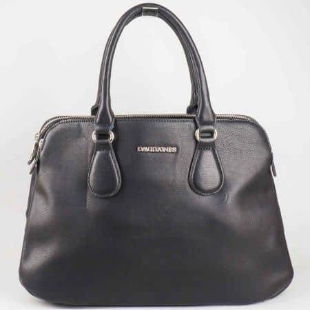 Изчистен модел черна дамска чанта David Jones cm3001ch
