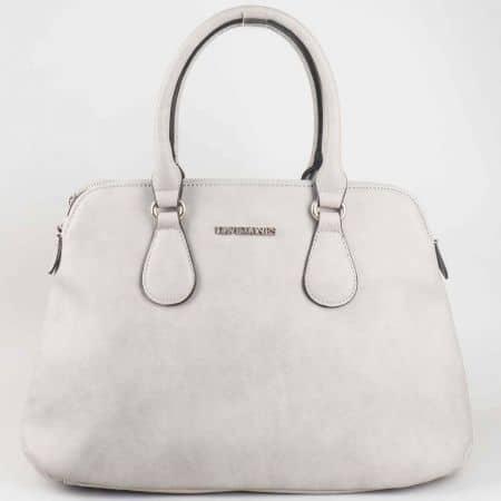 Изчистена сива дамска чанта David Jones  cm3001sv