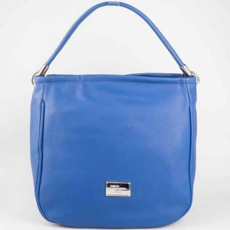 Атрактивна синя дамска чанта David Jones от еко кожа cm3006s
