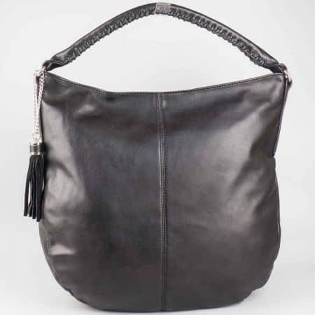 Стилна черна дамска чанта David Jones cm3011ch