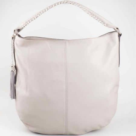 Страхотна сива дамска чанта David Jones  от еко кожа  cm3011sv