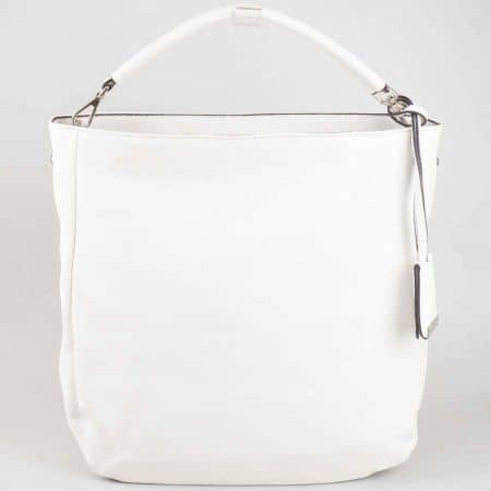 Ежедневна бяла дамска чанта David Jones cm3015b
