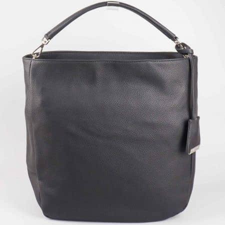 Ежедневна черна дамска чанта David Jones cm3015ch