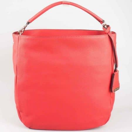 Уникална червена дамска чанта David Jones cm3015chv