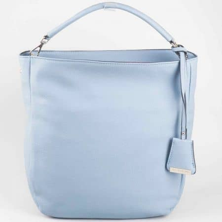 Ефектна синя дамска чанта на френския производител David Jones cm3015s